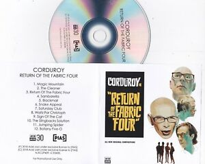 COURDUROY RETURN OF THE FABRIC FOUR RARE PROMO CD [2018 ACID JAZZ]