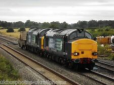 British Rail / DRS 37610 & 37609 (6M56) Nuclear Flask train Rail Photo