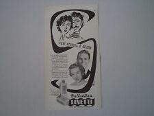 advertising Pubblicità 1954 BRILLANTINA LINETTI