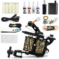 Complet Tattoo Kit de Tatouage Gun Machine à Tatouer Encre Ink Alimentation Set