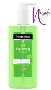 Neutrogena Oil Balancing Facial Wash with Lime & Aloe Vera | Oil Free 200ml