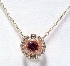 Sparkling Dance Round Necklace, Red -Rose Gold 2017 Swarovski Jewelry 5279421
