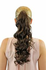 HAIR PIECE PONYTAIL Hooked Comb & Headband Braun Wavy Curly 45 cm rosy-6