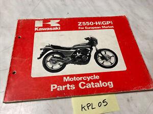 Kawasaki Z550 H1 Z550-H catalogue pièces détachées spare parts list Z KZ 550 GPz