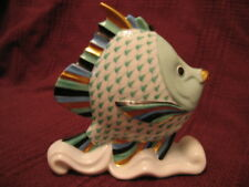 HEREND  Tropical Fish on  Aquati Wave   GREEN fishnet, Aquatic Collect Gorgeous!
