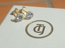 0.80tcw Tanzanite and 0.10tcw Diamond Stud Earrings 18ct 18k Yellow Gold by CTJ