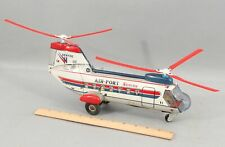 Vintage 1960s Alps Battery Op Tin Toy Boeing Vertol CH-46 Sea Knight Helicopter
