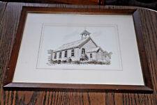 Len Guggenberger Red Wing Minnesota Listed Artist Church Ink Original Drawing
