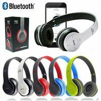Kopfhörer Bluetooth Wireless Kopfbügel Stereo Headset Faltbare On-Ear mit Mic FM