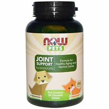 Now Pets Joint Support for Dogs & Cats ~ 90 Chewable Tablets - Newest Expiration
