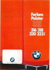 BMW SERIE 3 316 318 320 323 HO e21 COLORI E FINITURE 1977-78 ORIGINALE UK Opuscolo