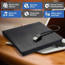 Externes DVD Laufwerk Brenner Slim USB 3.0 CD RW Brenner für PC Laptop Schwarz