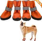 Dog Boots Waterproof Anti-Slip Dog Shoes for Outdoor Summer Hot Medium Orange