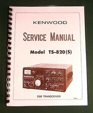 "Kenwood TS-820S Service Manual - 11"" X 17"" Foldout Schematic & Plastic Covers!"