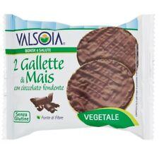 30 CONF GALLETTE MAIS VALSOIA SNACK CIOCCOLATO FONDENTE SENZA GLUTINE (2X16GR)