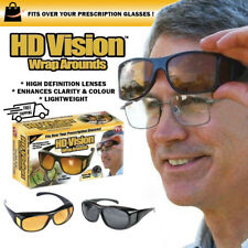 136aca6ac1 2pair Set HD Night Vision Wraparound Sunglasses as Seen on TV Fits Over  Glasses