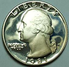 1981 S Proof Washington Quarter DDO Double Die Obverse FS-101 Dcam BU Error Coin