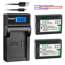 Kastar LCD Charger Battery for Sony NP-FH50 & DCR-DVD705 DCR-DVD708 DCR-DVD710