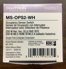LUTRON MS-OPS2-WH MAESTRO PIR OCC 2A SWITCH-MS-OPS2-WH