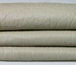 BEIGE NATURAL GRAINY Italian Lambskin leather skin skins hide 6sqf 1.1mm #A5889
