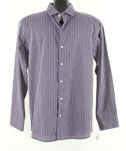 Chaps NEW Sz 14/16 Purple Lavender Stripe Button Up Cotton Blend Boys Shirt 258R