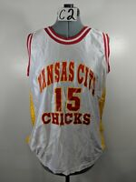 Kansas City Chicks Number 15 Red White Yellow Jersey Sz Large L C2