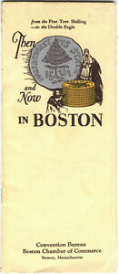 Then and Now in Boston Travel Brochure