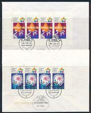 Ersttagsbrief-Briefmarken aus der DDR (1949-1954)