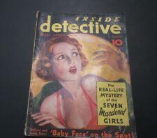 VINTAGE INSIDE DETECTIVE MAGAZINE MAR 1935 BABY FACE NELSON ALBERT FISH & MORE