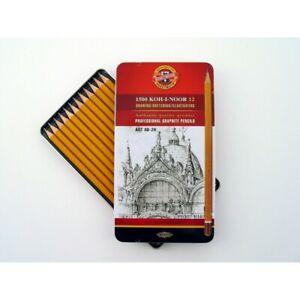 Koh-I-Noor Graphite Pencil 8B to 2H - Set of 12