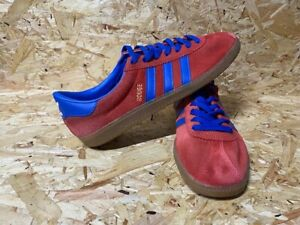 adidas rouge 2014 Trainers Red and Blue Size 9 - Restored