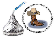 216 COWBOY COUNTRY WESTERN BIRTHDAY PARTY FAVORS HERSHEY KISS LABELS