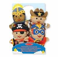 Melissa & Doug Kids Bold Buddies Soft Plush Hand Puppets - Set of 4