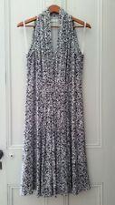 Calvin Klein Women Black and White Sleeveless Dress Size 12