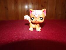 Littlest Pet Shop # 511 Angora Kitty Cat Orange White Swirls Green Diamond Eyes