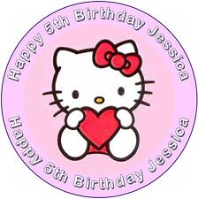 Hello KITTY birthday cake topper ~ personnalisé gratuit!!