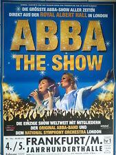 ABBA    THE SHOW  2010  FRANKFURT    orig. Concert - Poster   118 x 84 cm
