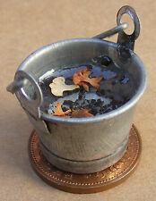 1:12 Scale Small Metal Bucket Of Water Tumdee Dolls House Miniature Accessory
