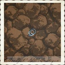 BonEful Fabric Fq Cotton Quilt Rock Brown Mountain Scenic Landscape Texture Rare