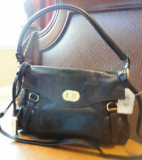 AMERICAN GLAMOUR LEATHER FLAP BAG ~ GOLD HARDWARES, MED. NWT~ CASSIC STYLE~ WOW
