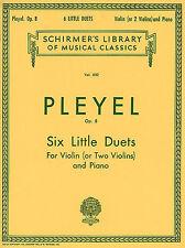 Ignaz pleyel six petits duos Op.8 apprendre à jouer du violon piano music book