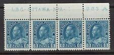 Canada #115 VF/NH Plate #1 Strip Of Four
