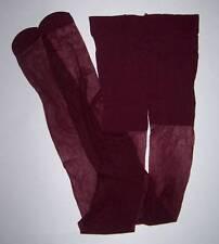 Red Violet Sheer Leg Pantyhose Nylons Stockings