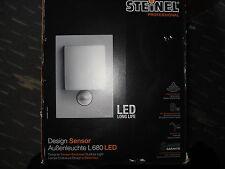 Haustürlampe Steinel Sensor-Leuchte LED 8W IP44 L 680 alu-silber(neue Blende)OVP