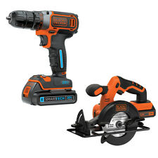 Black & Decker 2 Tool 20V Max Lithium Ion Brushed Motor Cordless Combo Kit (No C