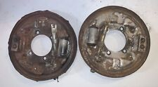 Set of Left & Right Rear Backing Plates off a 1978 Datsun 280Z. -T2- 2