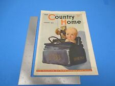 The Country Home Magazine January 1933 Farm Garden & Home Crowell Publ. L190