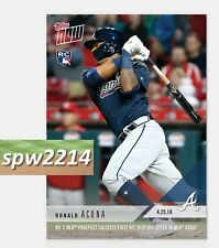 2018 Topps Now Ronald Acuna MLB Debut and First Hit #125