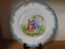 SEVRES 1846 Chateau de St Cloud Cabinet Portrait Plate Courting Signed France
