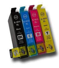 8 Inks, E1811 E1812 E1813 E1814 /T1816 XL non-OEM  Daisy ink cartridges